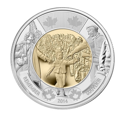 CANADA $2 2014 Wait For Me Daddy Circulation Toonie
