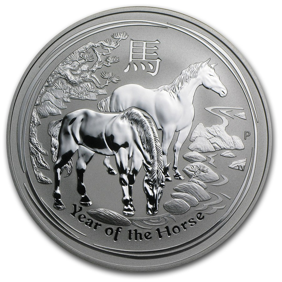 AUSTRALIA 2014 $1 Lunar Year of the Horse Fine 1oz Silver Coin in Capsule