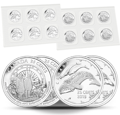 CANADA 25 cents 2013 Canadian Arctic Expedition Uncirculated Quarter 12-Pack